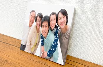 家族のお気に入りの一枚の写真を使ってキャンバスプリントに