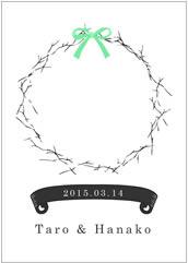 丸く輪を描いて作るリース型のウェディングツリー【ポスター印刷専門店